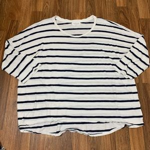 Velvet by Graham & Spencer Stripe Relaxed T-Shirt